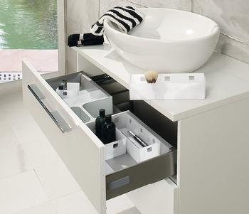 Cache de siphon, Insert pour tiroir, système d\'organisation ...