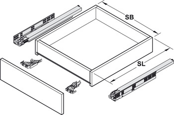 coulisse sous tiroir sortie totale grass dynamoov. Black Bedroom Furniture Sets. Home Design Ideas
