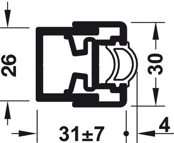 profil de compensation murale avec profil d 39 tanch it dans la boutique h fele france. Black Bedroom Furniture Sets. Home Design Ideas