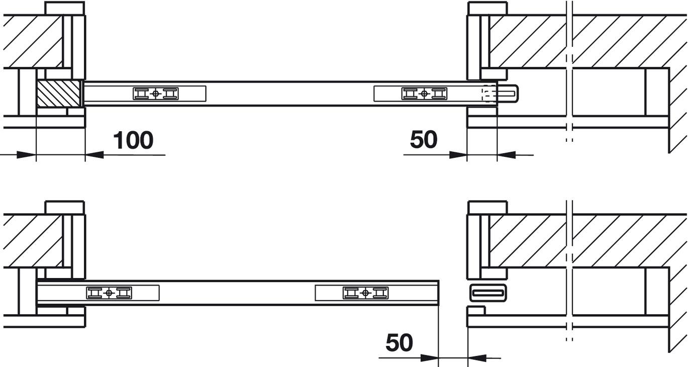 Cale de montage pour portes coulissantes coulissant dans - Porte coulissante plan ...