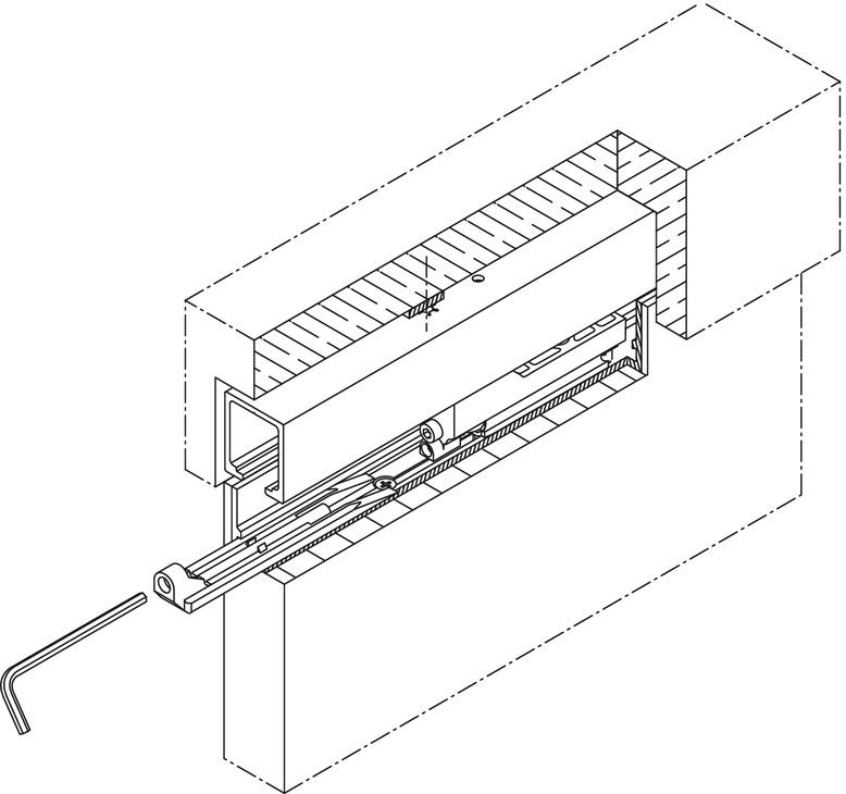 Cale de montage pour portes coulissantes coulissant dans for Montage d une porte