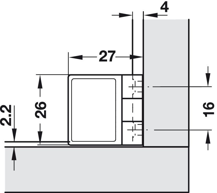 Charni re pour portes en verre pour montage de porte sans per age de verre pose int rieure - Carreaux verre pour porte interieure ...