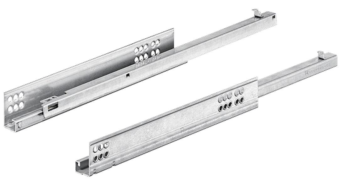 coulisse de tiroir sortie partielle capacit de charge jusqu 39 30 kg acier pour tiroir. Black Bedroom Furniture Sets. Home Design Ideas