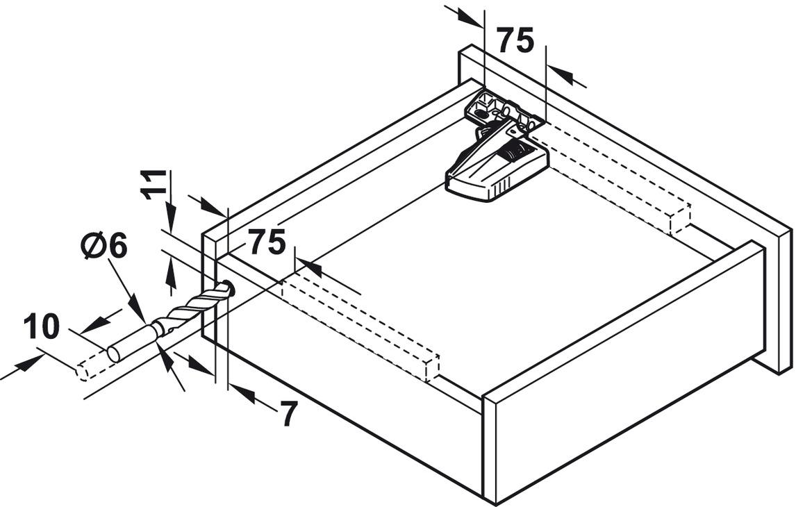 coulisse sous tiroir sortie totale blum movento 760 h ou. Black Bedroom Furniture Sets. Home Design Ideas