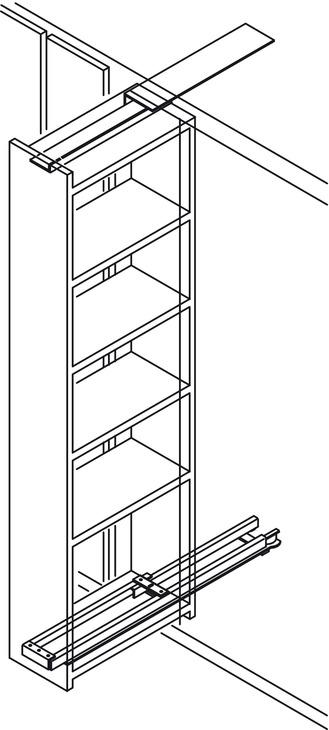 coulisse sup rieure pour coulisse pour armoire coulissante capacit de charge jusqu 39 100 kg. Black Bedroom Furniture Sets. Home Design Ideas