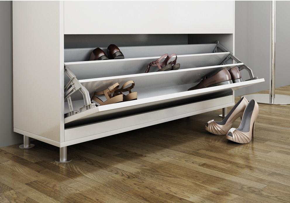 ferrure basculante pour armoire chaussure avec 1 ou 2. Black Bedroom Furniture Sets. Home Design Ideas