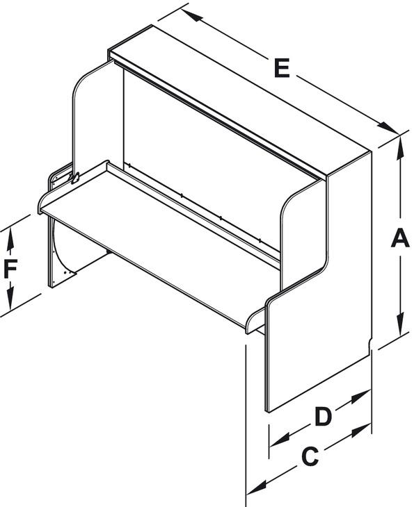 ferrure de lit de bureau tavoletto ferrure de lit de table de bureau dans la boutique. Black Bedroom Furniture Sets. Home Design Ideas