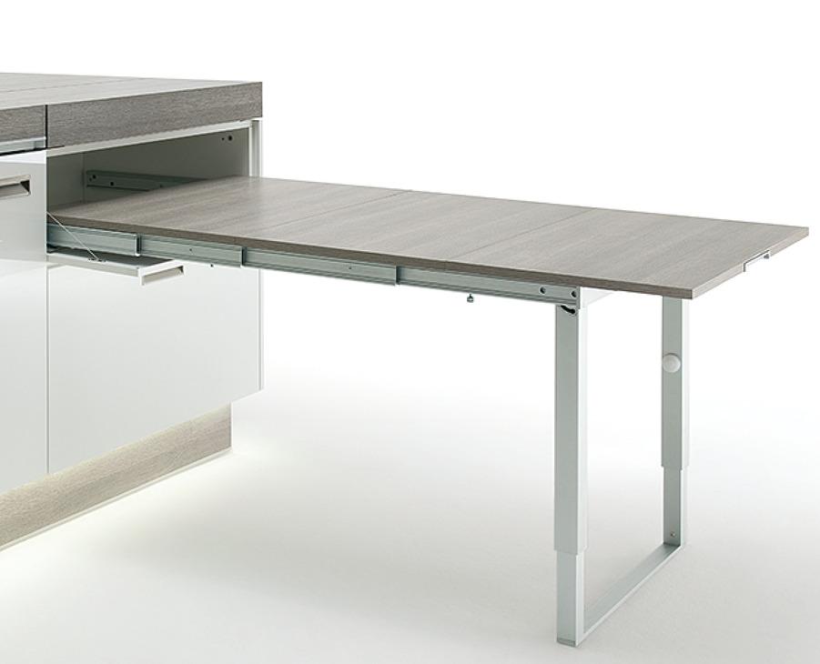 Ferrure de tables à rallonge et pour abattants, avec pied de table ...