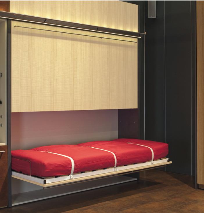 Lit encastre armoire lit escamotable athena avec dressing for Design appartements urlaubsresort hafele