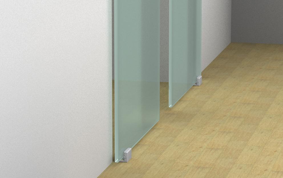 Ferrure pour porte coulissante eku porta 100 gw gwf for Porte coulissante fixation plafond