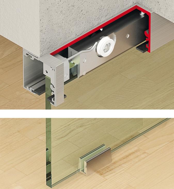 Ferrure pour porte coulissante slido classic 40 f 120 f for Porte coulissante fixation plafond
