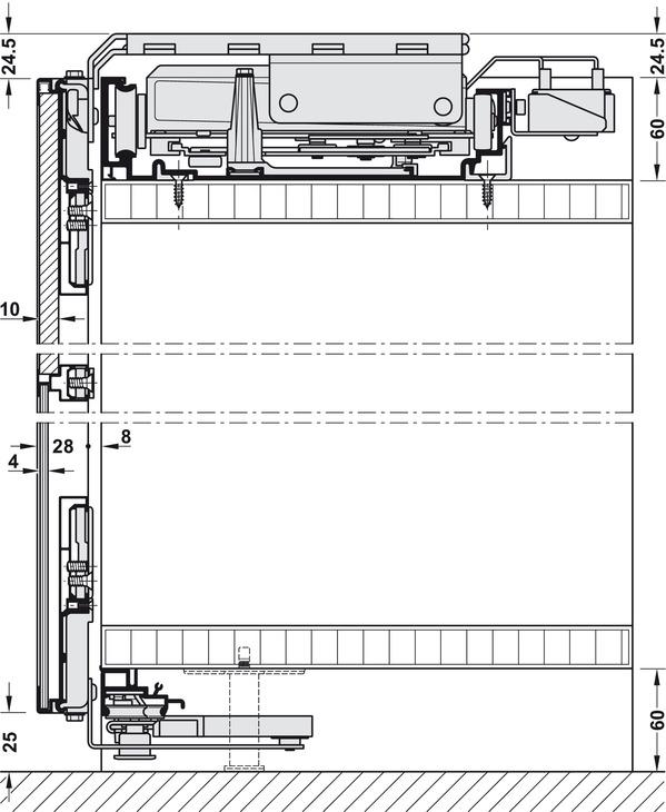 Ferrure pour porte coulissante slido flat 60 fb for Hauteur de porte interieure