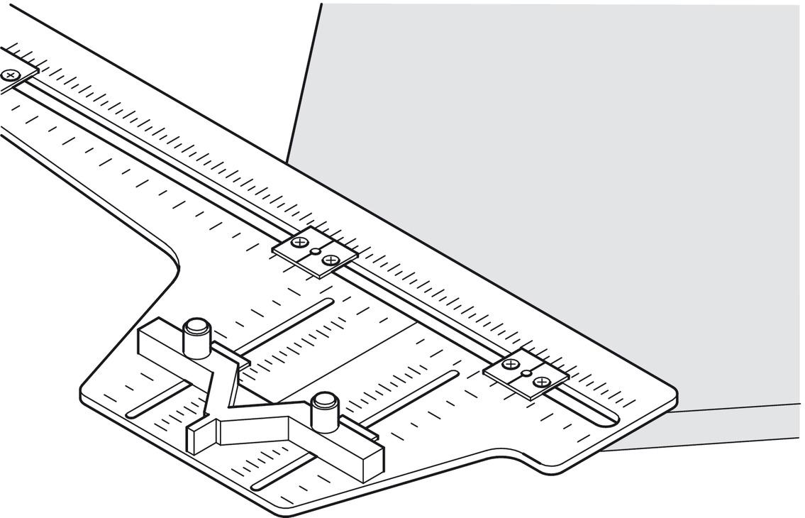gabarit de per age de poign e pour per age sur portes d. Black Bedroom Furniture Sets. Home Design Ideas