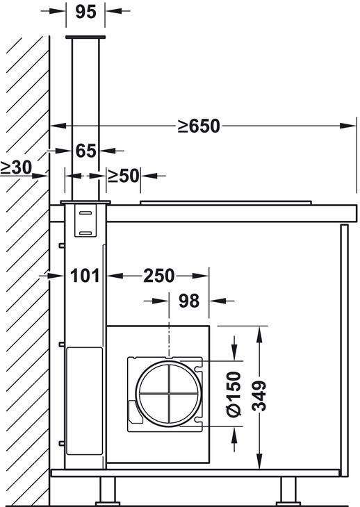hotte aspirante de plan de travail franke dawn dans la boutique h fele france. Black Bedroom Furniture Sets. Home Design Ideas