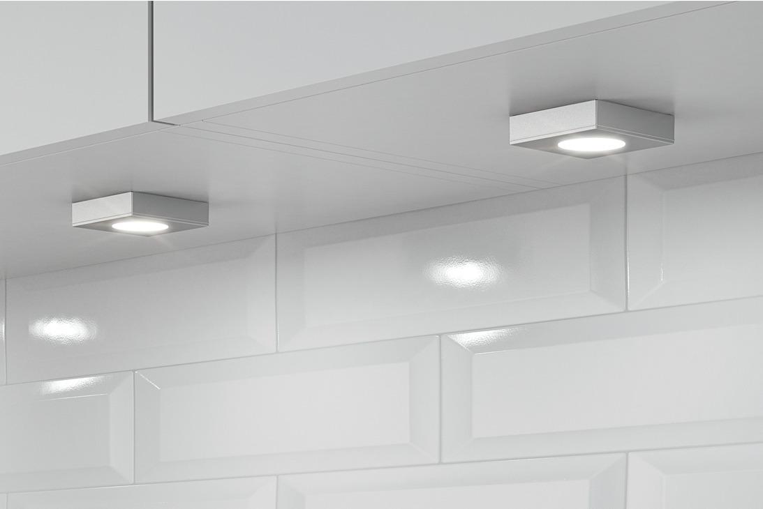 luminaire encastrer montage en applique modulaire h fele loox led 2025 aluminium 12 v. Black Bedroom Furniture Sets. Home Design Ideas