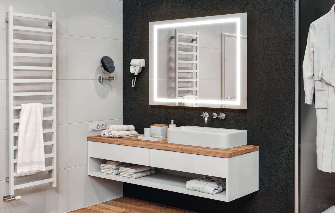 Miroir de salle de bain h fele aquasys multifonctionnel dans la boutique h fele france for Immense miroir