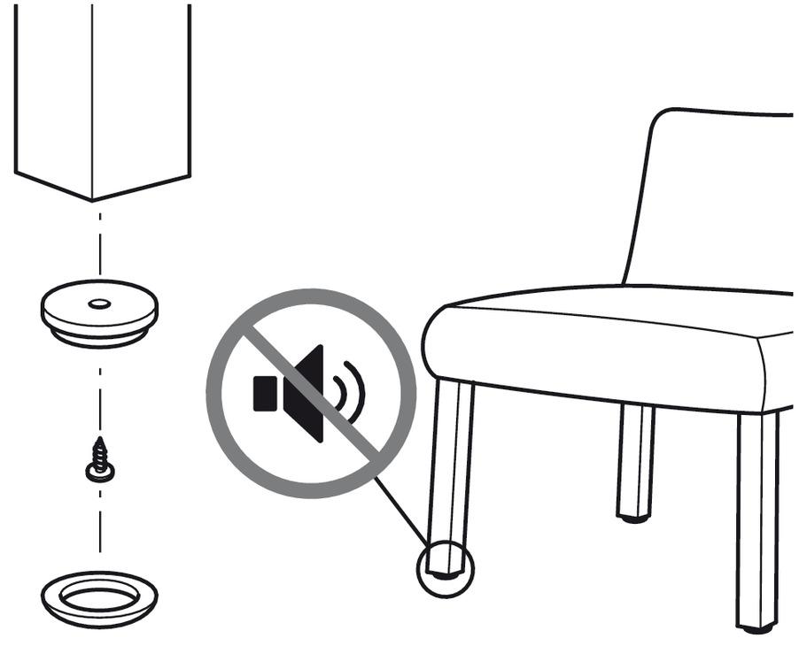patin pour meuble rond pour visser sur les surfaces. Black Bedroom Furniture Sets. Home Design Ideas