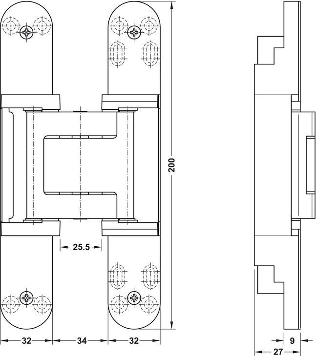 Paumelle de porte simonswerk tectus te 540 3d a8 pose for Porte 0 recouvrement