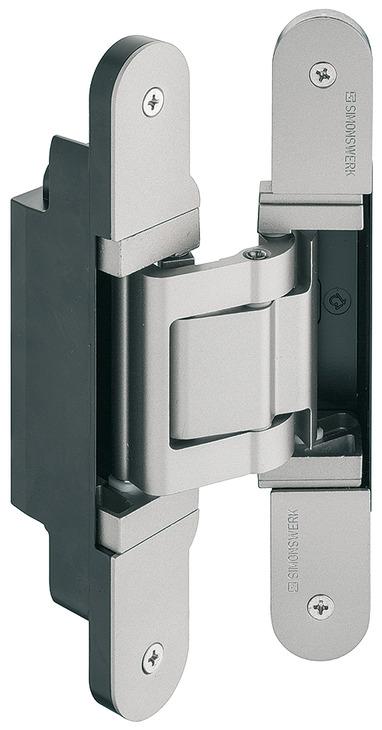 paumelle de porte simonswerk tectus te 541 3d fvz pour portes recouvrement jusqu 39 100 kg. Black Bedroom Furniture Sets. Home Design Ideas