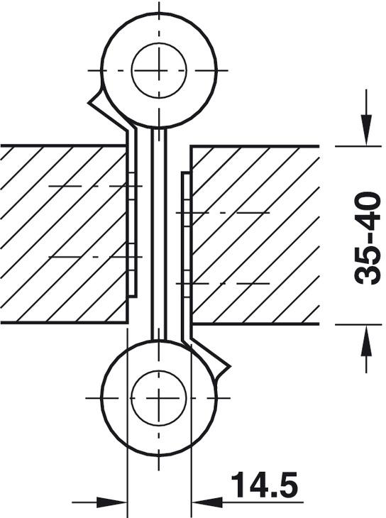 Paumelle de porte va et vient dimension 150 mm startec - Porte va et vient bois ...