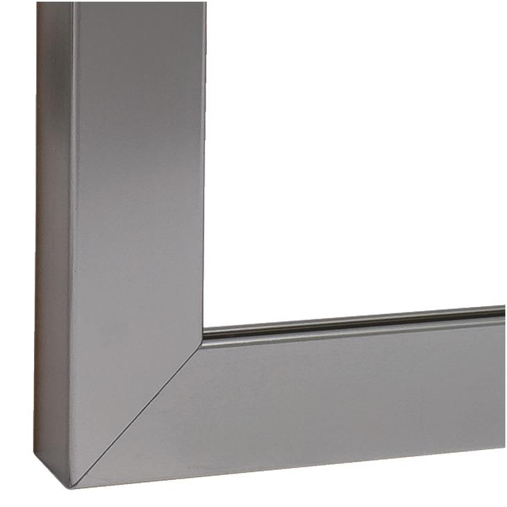 profil de cadre en aluminium pour vitre pour paisseur de verre 4 mm dans la boutique h fele. Black Bedroom Furniture Sets. Home Design Ideas