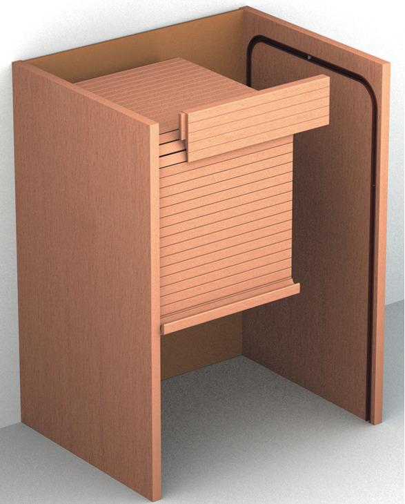 rideau de volet roulant en bois avec rail de roulement et coude dans la boutique h fele france. Black Bedroom Furniture Sets. Home Design Ideas
