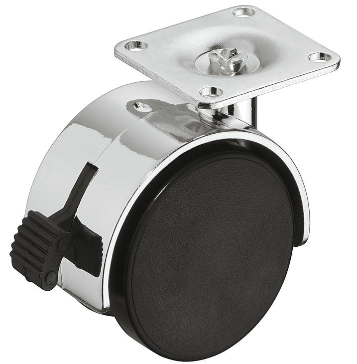 roulette pour meuble double capacit de charge 35 100 kg orientable avec blocage dans la. Black Bedroom Furniture Sets. Home Design Ideas