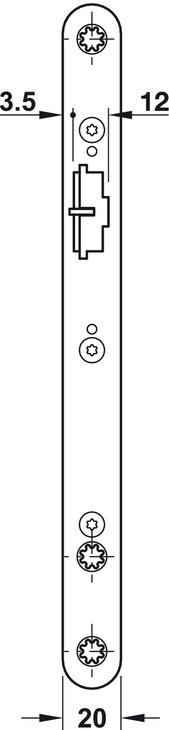 Serrure à mortaiser, acier inoxacier, BKS, B 2117, avec