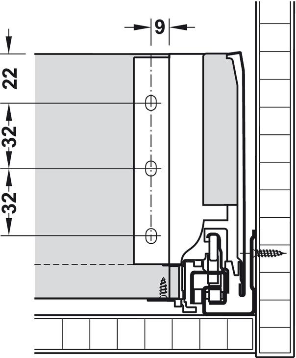Tiroir Blum Tandembox Antaro Avec Rail De Corps