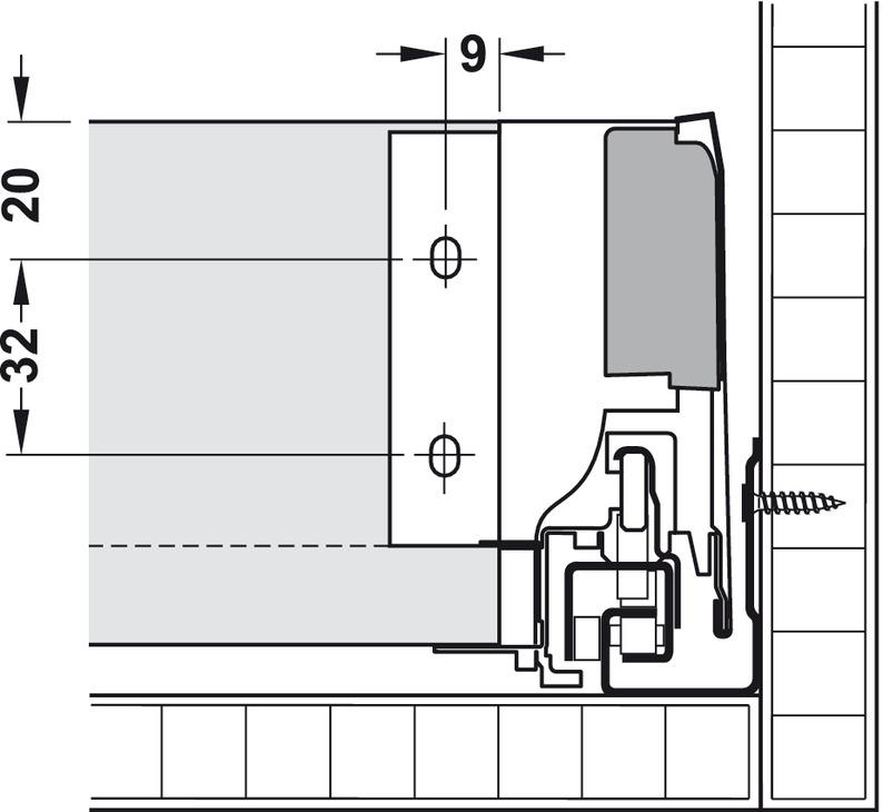 tiroir blum tandembox antaro avec rail de corps blumotion hauteur de syst me m hauteur de. Black Bedroom Furniture Sets. Home Design Ideas